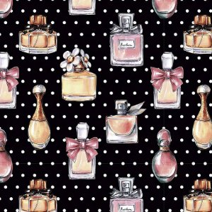 Tricoline Digital Perfumes, 100% Algodão, Unid. 50cm x 1,50mt