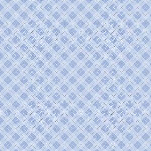 Tricoline Digital Hexágonos Baby Menino, 100% Algodão, Unid. 50cm x 1,50mt