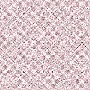 Tricoline Digital Hexágonos Baby Menina, 100% Algodão, Unid. 50cm x 1,50mt