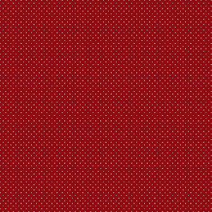 Tricoline Estampado Poá Vermelho, 100% Algodão, Unid. 50cm x 1,50mt