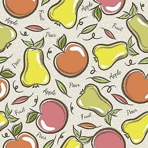 Tricoline Estampado Apple Pear, 100% Algodão, Unid. 50cm x 1,50mt