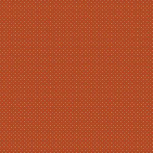 Tricoline Estampado Poá Cenoura, 100% Algodão, Unid. 50cm x 1,50mt