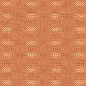 Tricoline Estampado Poá Laranja, 100% Algodão, Unid. 50cm x 1,50mt