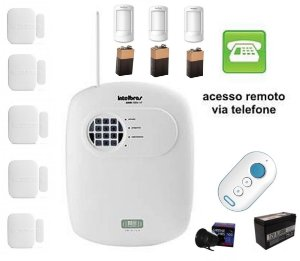 Kit Central De Alarme Intelbrás Monitorado Amt 2008 Rf