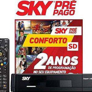 Receptor SKY Pré-Pago Conforto SD -2 anos sem mensalidade