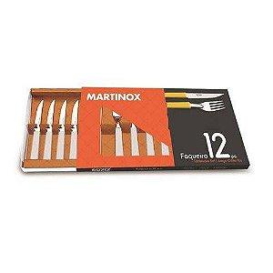 Faqueiro 12 peças em Aço Inox e Polipropileno Martinazzo