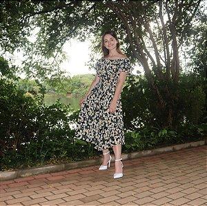 Vestido Jardim Preto