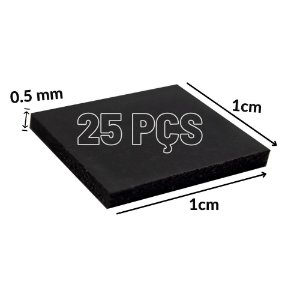 Thermal Pad Térmica 1cm*1cm 0.5mm 25 Pçs Para Consoles GPU
