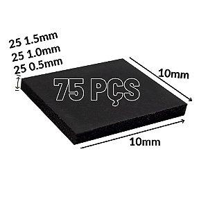 75 Thermal Pad 10mmx10mm 25x 0.5mm + 25x 1.0mm + 25x 1.5mm