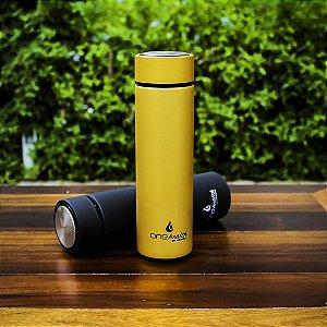 Garrafa Térmica Dourada Inox Com Infusor One Glass Health 500ml