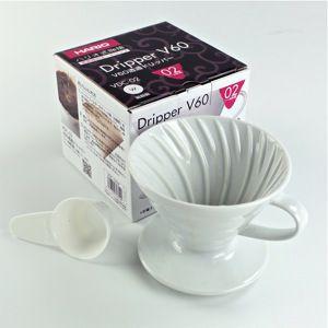 Hario V60 02 Suporte para Filtro de Café de Cerâmica Branco