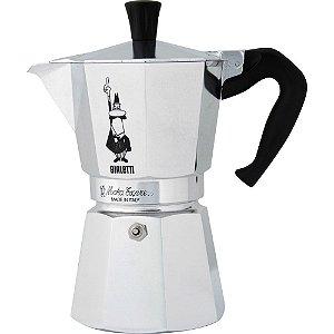 Cafeteira Bialetti Italiana - Moka 6 Cup - Inox