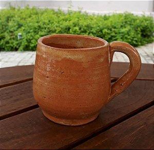 Xícara Grande com Alça - Cerâmica Rústica Artesanal