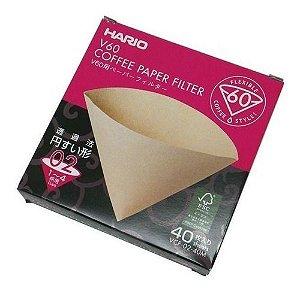 Filtro de Papel Natural Para Hario V60 02 - 100 Unidades - Caixa