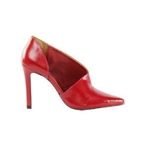 Sapato Feminino Scarpin SHEPZ Salto Alto Curvatura Lateral Vermelho