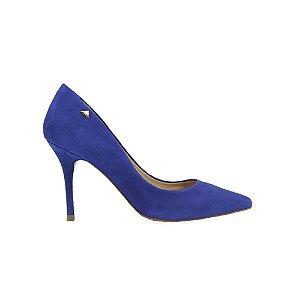 Sapato Feminino Scarpin SHEPZ Couro Marinho