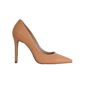Sapato Feminino Scarpin SHEPZ Salto Alto Bico Fino Laranja