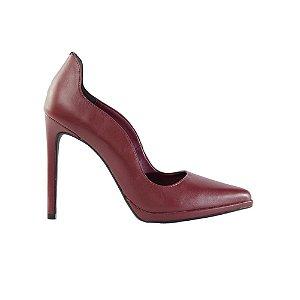 Sapato Feminino Scarpin SHEPZ Salto Fino Bico FinoMarsala