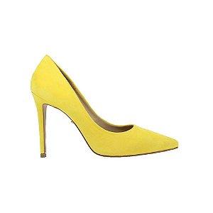 Sapato Feminino Scarpin SHEPZ Amarelo Suede