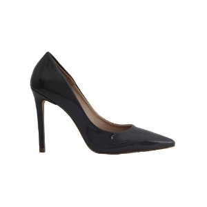 Sapato Feminino Scarpin SHEPZ Verniz Salto Alto Bico Fino Cinza