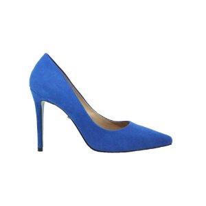 Sapato Feminino Scarpin SHEPZ Suede Sola Azul Claro