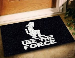 Tapete Capacho Use The Force 60x40 Star Wars Casa Entrad Lar