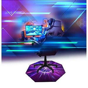 Tapete Gamer Pro 120x120 Protetor Piso Para Cadeira Jogo 5mm