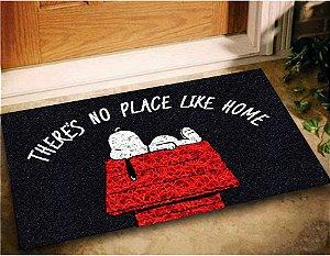 Tapete Capacho Snoopy  60x40 - Preto