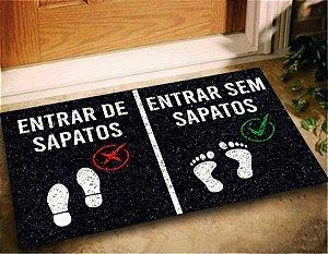 Tapete Capacho Entrar Sem Sapatos 60x40 Tire Casa Divertida