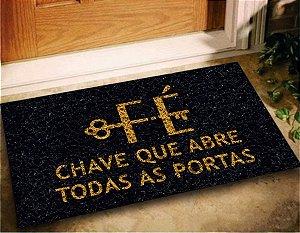 Tapete Capacho Fe Chave Abre Todas Portas 60x40 Decorativo