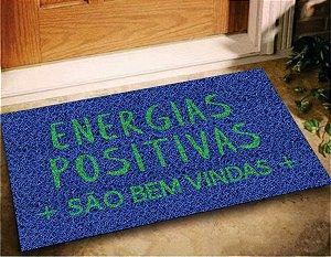 Tapete Capacho Energias Positivas Sao Bem vindas 60x40 Casa