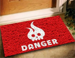 Tapete Capacho Divertido Danger 60x40 Decore Casa Home Porta
