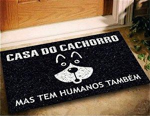Tapete Capacho Divertido Casa do Cachorro 60x40 Dog Pet Lar