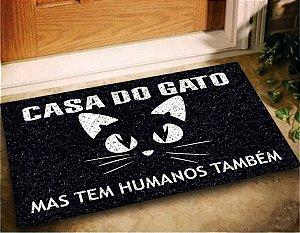 Tapete Capacho Casa do Gato 60x40 Entrad Decorativo Pet Cat
