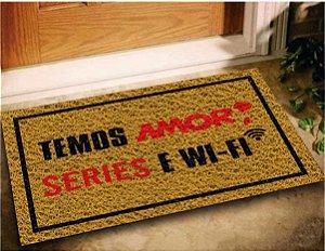 Tapete Capacho Amor Series Wifi 60x40 Divertido Decorativo