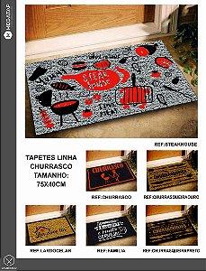 Tapete Capacho Para Churrasco 75x40 Diversos Modelos
