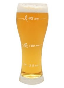 Copo de Cerveja Distâncias Triathlon