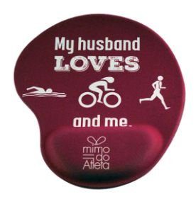 Mouse Pad Triathlon Rosa