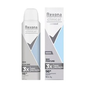 Desodorante Aerosol Rexona Clinical Sem Perfume 150Ml