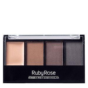 Trio de Sombras + Primer para Sobrancelhas Ruby Rose HB-9354
