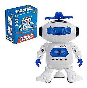 Robô Cóptero Brinquedo Crianças Dança Som Luz 3d - Art Brink