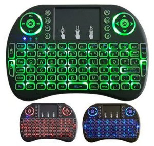 Mini Teclado Led Sem Fio Wirelles C/ Luz P/ Tvbox E Smart Tv