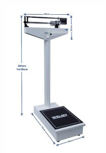 Balança Hospitalar Antropométrica Mecânica 300kg 104a Welmy