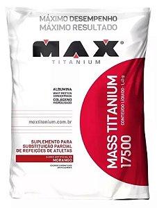 Hipercalórico Max Titanium 17500 3kg Morango - MAX SUPLEMENTOS