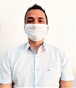 Máscara Lavável Malha 100% Algodão Dupla Camada 6 Peças