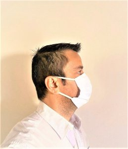 10 Máscaras Lavável Não Descartável Tecido Dupla Camada Proteção