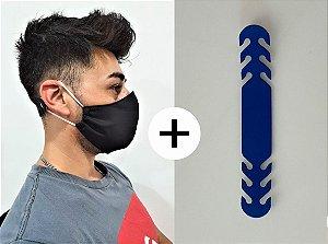 Extensor + Máscara Ninja Dupla Proteção Tecido Algodão