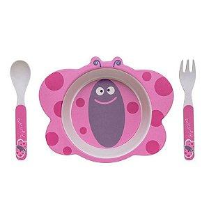 Kit Alimentação Borboleta Eco Girotondo Baby - 3 unidades