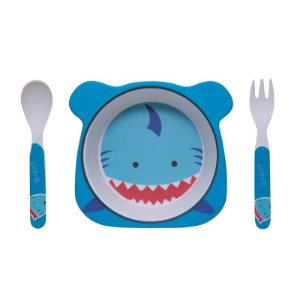 Kit Alimentação Tubarão Eco Girotondo Baby - 3 unidades