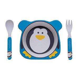 Kit Alimentação Pinguim Eco Girotondo Baby - 3 unidades